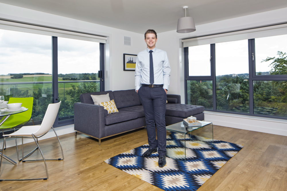 James in a Forbes Place apartment
