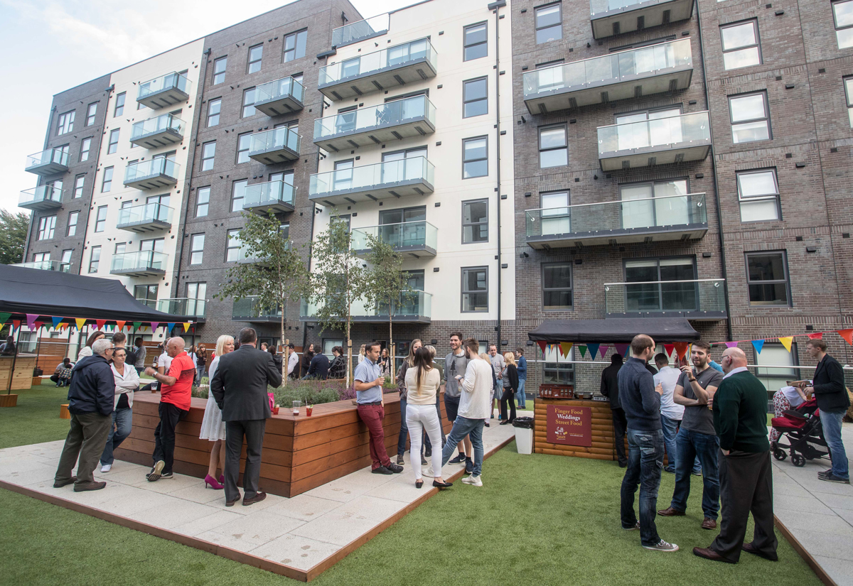 The Summer party was hosted in the Forbes Place gardens