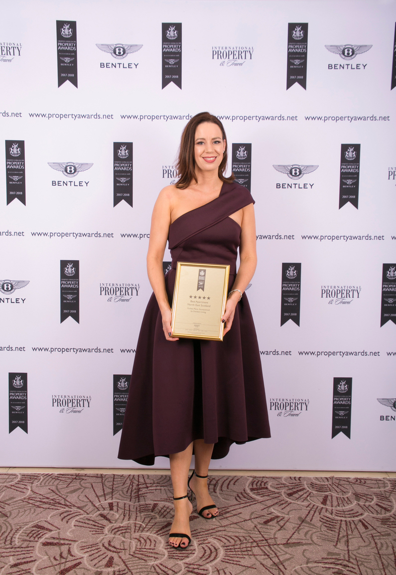 Dandara Living Lettings Manager Mandy Anderson at the International Property Awards ceremony